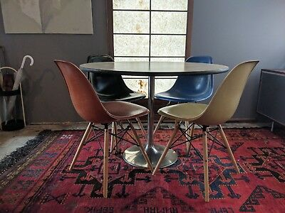 MID CENTURY CHROME Saarinen Style Table Base Only Tulip Dining Side - Tulip dining table base only