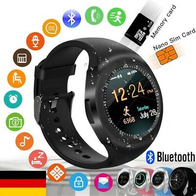 Bluetooth Smart­watch Sport Armbanduhr Herzfrequenzmesser Wasserdicht MP3 Kamera