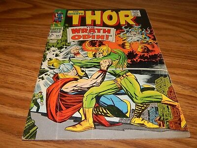 """KEY Silver Age Comic Thor # 147 """"Origin Of The Inhumans"""" FN Condition"""