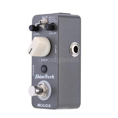 Mooer Shim Verb Micro Mini Digital Reverb Effect Pedal for Electric Guitar O6H5