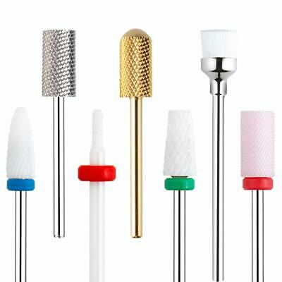"Pro Ceramic Nail Drill Bit  Gel Removal  Manicure Rotary Burr Tool 3/32"" Set 7pc"
