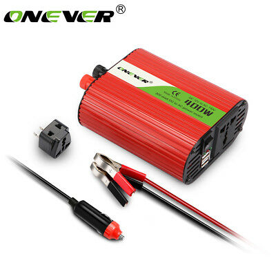 Portable Car Power Inverter 400WATT DC 12V to AC 110V Charger Converter US STOCK