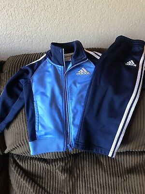 Adidas Track Suit Baby Blue/Navy Blue 18 Mo