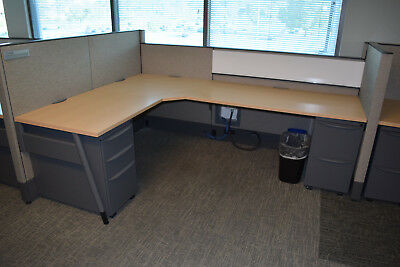 50 6'x6' & 6'x8' Haworth Premise Enhanced Office Cubicles with Mobile Pedestals