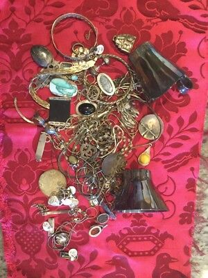 VTG WHOLESALE 22.6 ounces STERLING SILVER JEWELRY LOT WEAR & SCRAP