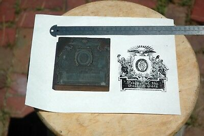 Collectable Mysterious Letterpress Cut Block Wine Product of the Golden Gate