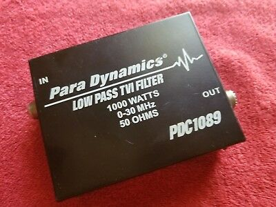 USED Para Dyamics Low Pass Filter PDC1089 (TVI FILTER)