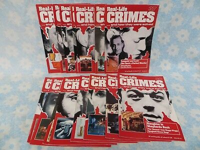 Vintage 'Real Life Crimes' magazines Nos 20 - 37 (22 & 23 missing) 1995