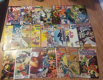 Mixed Lot Of 25 Marvel And DC Comics, 80s And 90s, Spiderman, Xmen, More