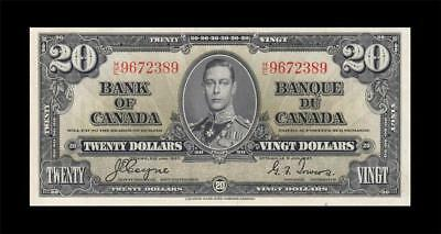 1937 BANK OF CANADA KGVI $20 **Coyne & Towers** (( EF+ ))