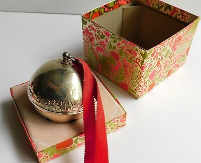 Vintage Wallace 1979 Silver Plated Jingle Bell Etched Rose Annual Edition w/Box
