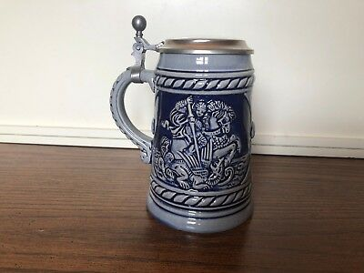 RARE MR Marzy Remy Cobolt Blue DRAGON SLAYER MADE IN W.GERMANY Beer Stein