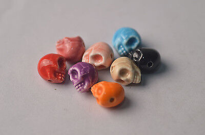 5pc 13*13.5mm Ceramics Porcelain Skeleton Beads Spacer Beads Pendant Jewelry