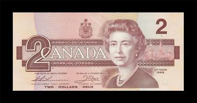 "1986 BANK OF CANADA QEII $2 ""Thiessen & Crow"" (( GEM UNC ))"