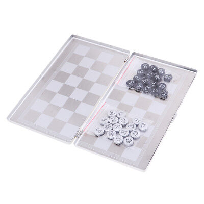 1 Set Mini International Chess Travel Board Game Pieces Children Xmas Gift