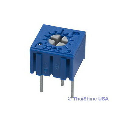 5 x 100 OHM TRIMPOT TRIMMER POTENTIOMETER 3362 3362P - USA SELLER Free Shipping