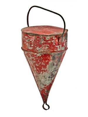1940's GALVANIZED STEEL ANTIQUE LARGE SAILBOAT BUOY SAILBOAT BUOY OLD CHICAGO