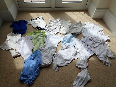 Baby vests bundle 0-3 months Start 30p Nice clean condition