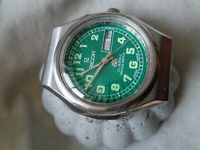 Ricoh Automatik Uhr Day/date 21 Jewels Stainless Steel Vintage Japan Gents Watch