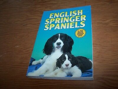 1995 pb English Springer Spaniels, Diane McCarty, TFH guidebook, 224 pages