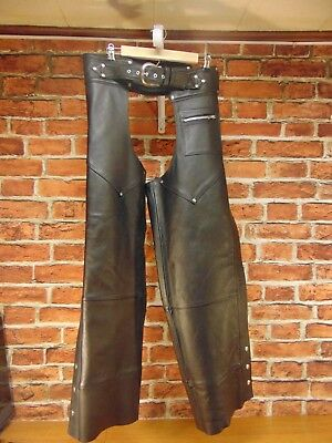 Harley Davidson Women's Leather Chaps Size Medium