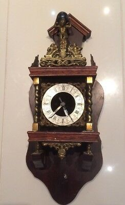 Damaged Incomplete Scruffy Dutch Clock Case Only For Repair