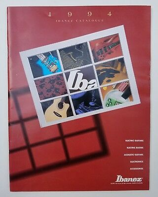1994 Ibanez 59 Page Catalog / Catalogue Guitars, Basses, Pedals Many Artists!
