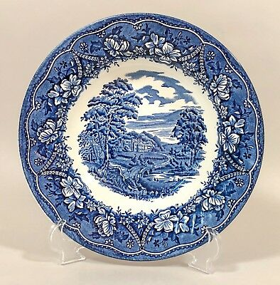 Old Castle by Barratts Staffordshire Blue & White transferware soup/serving bowl