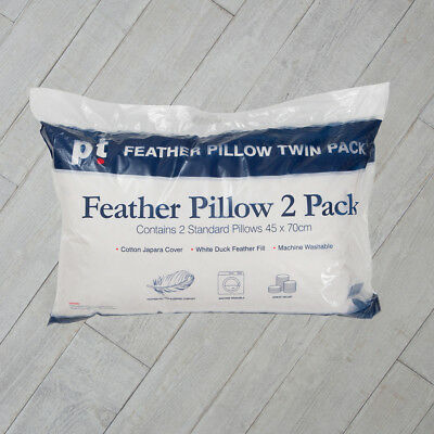 New Pillow Talk PT Twin Pack Feather Pillows
