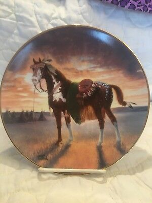 The Hamilton Collection Collector Plate/ The Warriors Pride/'crow War Pony""