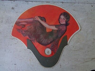 Vintage Advertising Fan Leon Scott Insurance Co Philadelphia Pa Victorian Lady