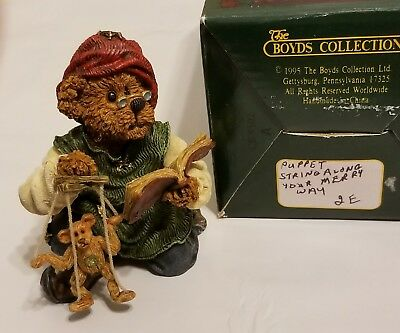 The Boyds BearStone Collection- Puppet String Along your Merry Way