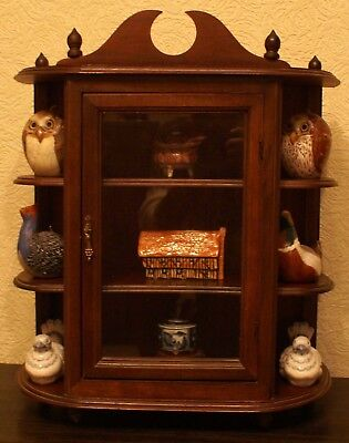 Three-Tiered Ornament Cabinet in Mahogany
