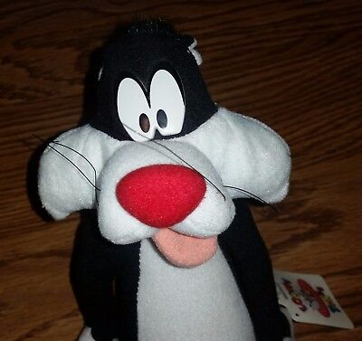 Vintage 1994 Sylvester the Cat Looney Tunes Plush Toy Stuffed Animal With Tags