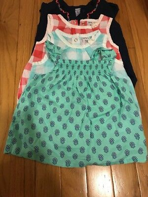 Four Carters Shirts Size 9 12 Months Baby Girl Lot