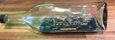"""Vintage """"Ship In A Bottle"""" SS Ben Lomand  Maritime Marine Nautical Boat"""