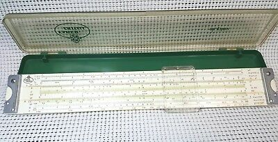 Vintage Faber-Castell 2/82 Duplex Slide Rule w/Display Case EXC Made in Germany