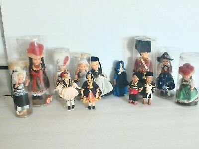 Vintage Plastic Doll Lot, Dolls from around the world!
