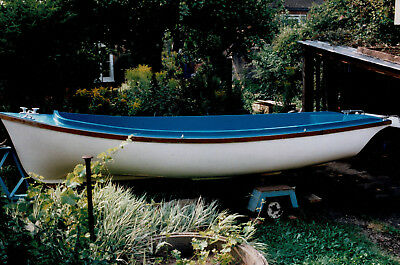 Fibreglass motor dinghy, 4.8m, with 15HP outboard