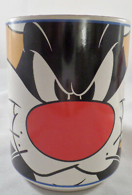 1998 SYLVESTER THE CAT MUG  Purrrrrfect Condition Warner Brothers 4 Inches Tall