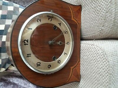 Vintage silent Westminster mantle clock art deco st Michael