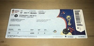 Sammler Used Ticket WC #11 Deutschland Germany Mexiko Mexico WM World Cup A105