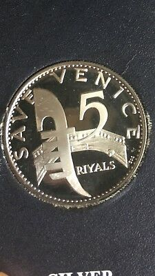 1971 Ajman United Arab Emirates (Uae) Save Venice 5 Riyals Silver Proof Coin