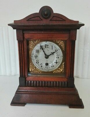 Vintage Architectural 8 Day Bracket Clock