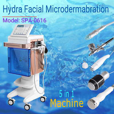 5 in 1 Hydra Facial Microdermabration  Bio current oxygen spray RadioFrequency