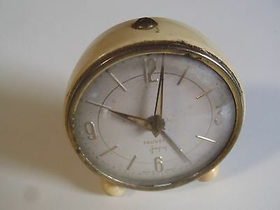 Antique Small Alarm Clock Warbler Japy