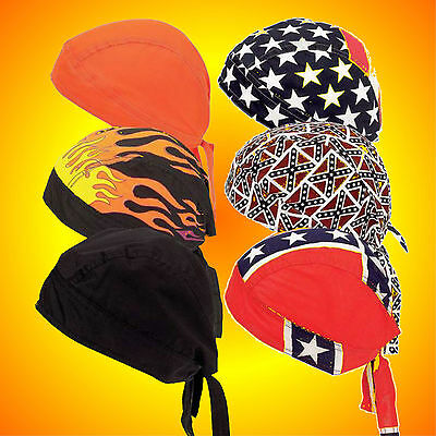 Do Rags Skull Caps-Biker Skull Caps-Set of SIX Assorted-Buy 2-Have Matching Sets