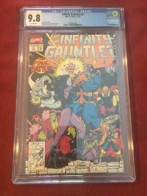 INFINITY GAUNTLET #6 (1991) CGC 9.8 (NM/MT) White Pages - RARE