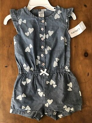 carters 18 month girl Gray Romper