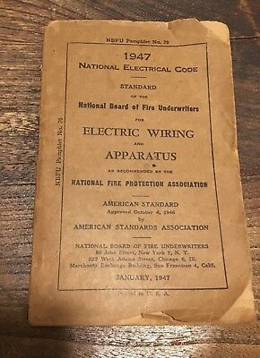 1947 National Electric Code Book